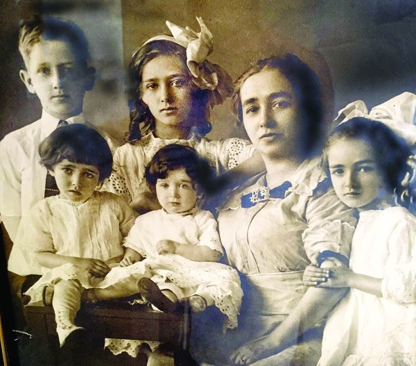 BAKST FAMILY: A circa 1913 picture of Michael's wife, Katie Levy Bakst, includes their son, Lester, and their daughters. Next to Lester is Dorothy. In front of him is Florence and next to her is Hazel. On the other side of Katie is Tillie. Katie died in 1958. Charlie Bakst's daughter, Diane's middle name is Kathryn, in her honor.