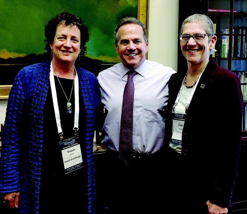 Pictured during J Street's National Advocacy Day (left to  right) are Susan Sklar, Rep. David Cicilline and Judy Kaye.