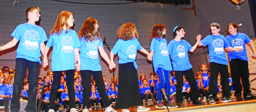 It is an annual tradition that the graduating fifth-grade class choreographs a dance to an Israeli song of their choice.