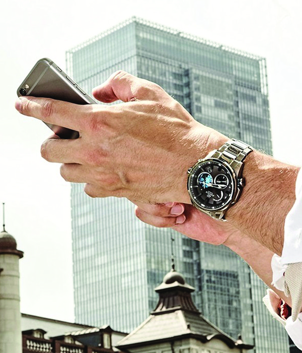 """The latest technology offers analog watches with features such as  """"smartphone link"""" for the latest in time accuracy."""