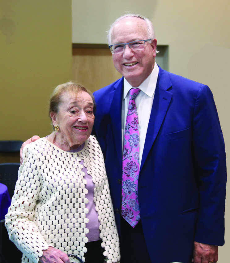 Joan Ress Reeves with Rabbi Wayne Franklin