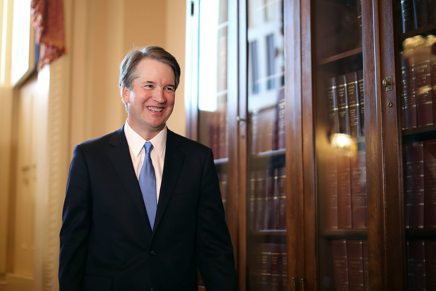 WASHINGTON, DC - JULY 10:  Judge Brett Kavanaugh leaves the room following a meeting and press availability with Senate Judiciary Committee Chairman Charles Grassley (R-IA) at the U.S. Capitol July 10, 2018 in Washington, DC. U.S. President Donald Trump nominated Kavanaugh to succeed retiring Supreme Court Associate Justice Anthony Kennedy.