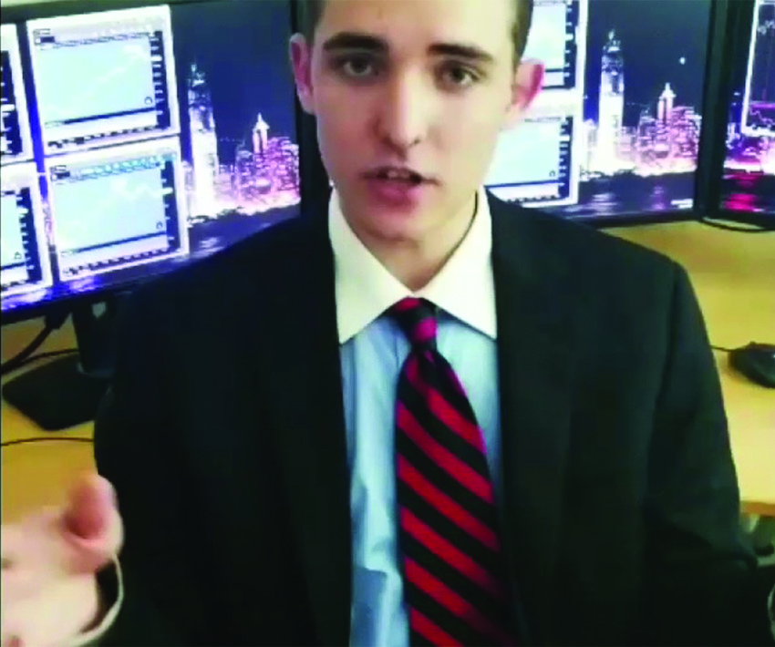 Jacob Wohl describes himself as a conservative, a Zionist and one of President Trump's most loyal supporters.   (Screenshot from YouTube)