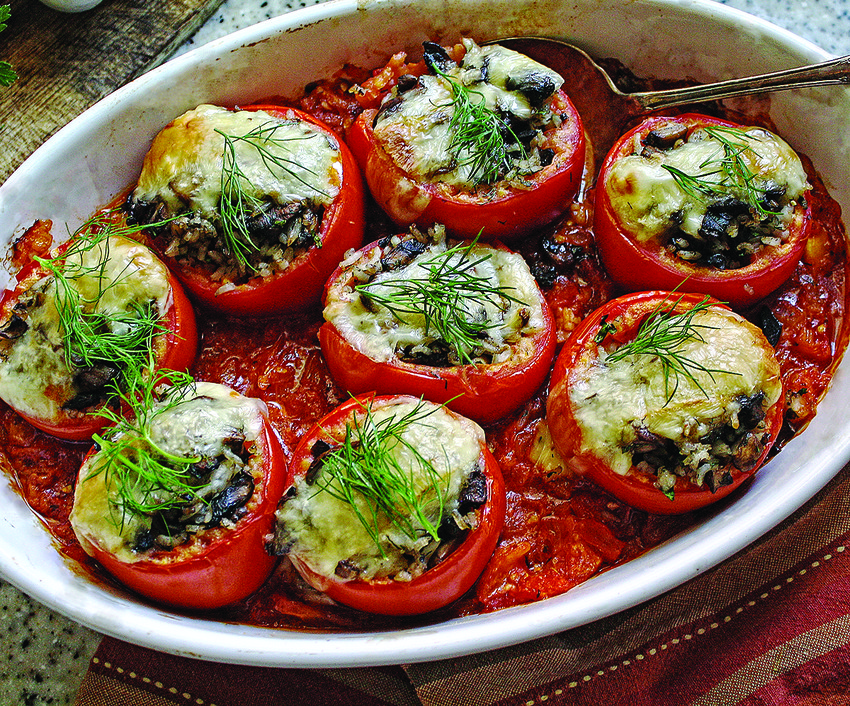Georgian-Style Stuffed Tomatoes