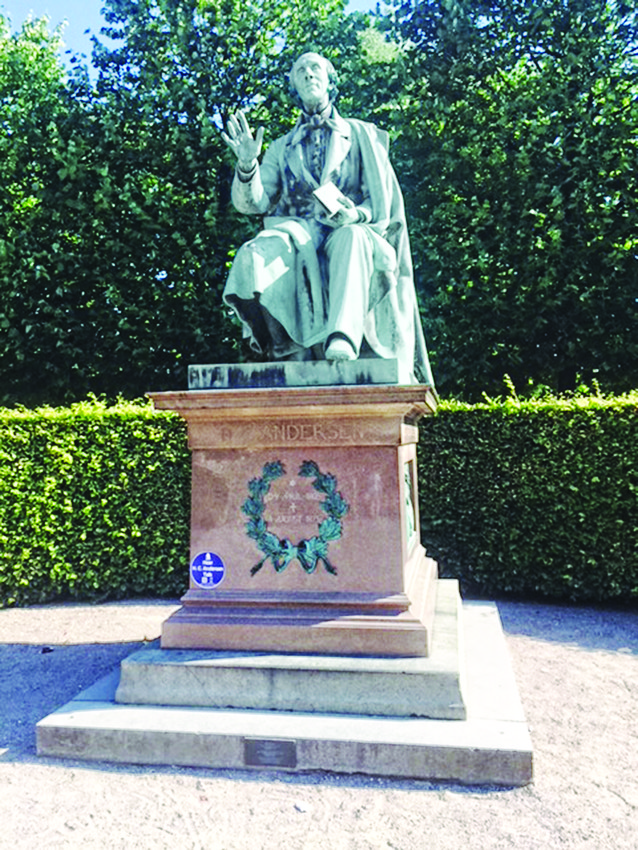 A statue of Hans Christian Andersen