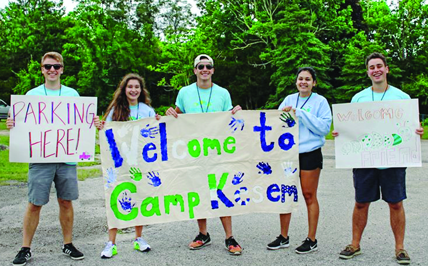 These Camp Kesem at Brown University counselors are excited to welcome our families to the 2018 camp session!