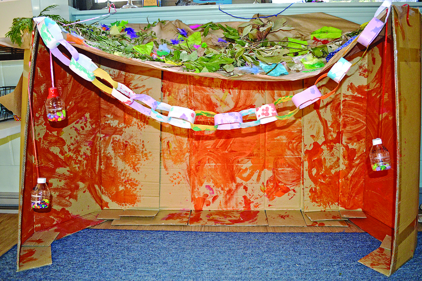 A sukkah designed by David C. Isenberg Family Early   Childhood Center children during a past celebration.