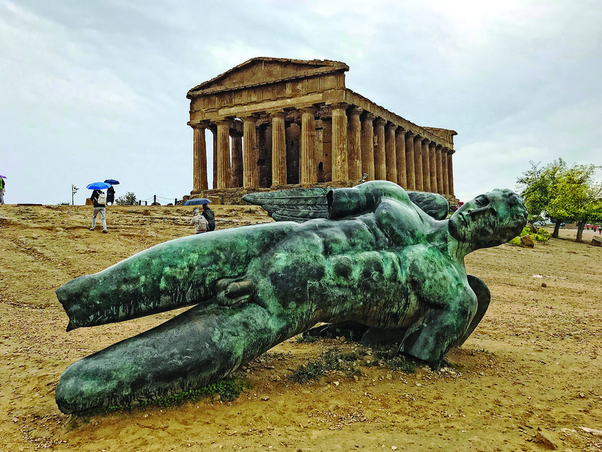 The bronze sculpture at Agrigento.