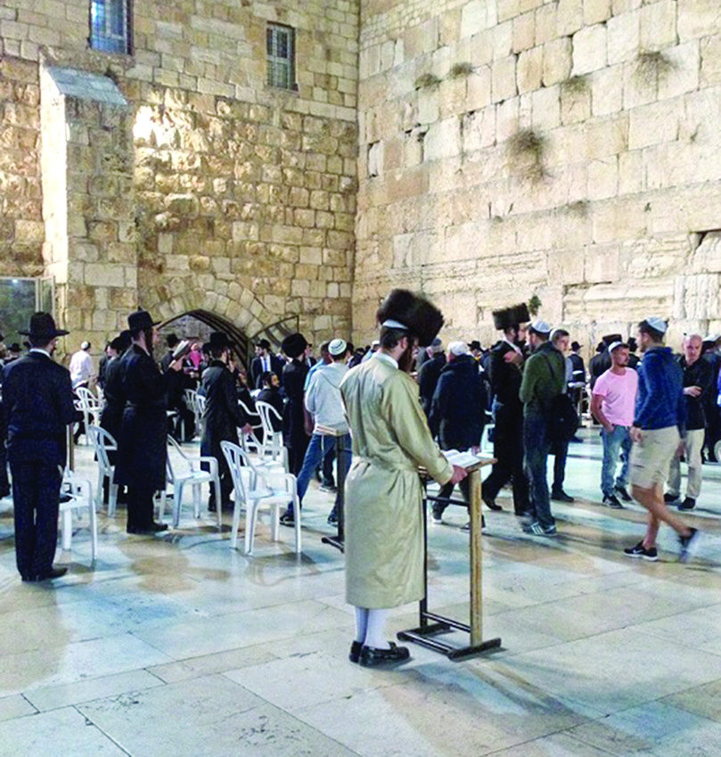 Many of us celebrated Shabbat at the Western Wall, in Jerusalem. Maybe it was the spring-like temperature and breeze that night. Maybe it was the light. Maybe the hush of 1,000 prayers.Maybe the imam from the mosque on top, whose plaintive chant melded with the prayers below.  It all blended into a special reverent and sad feeling   for us that night.
