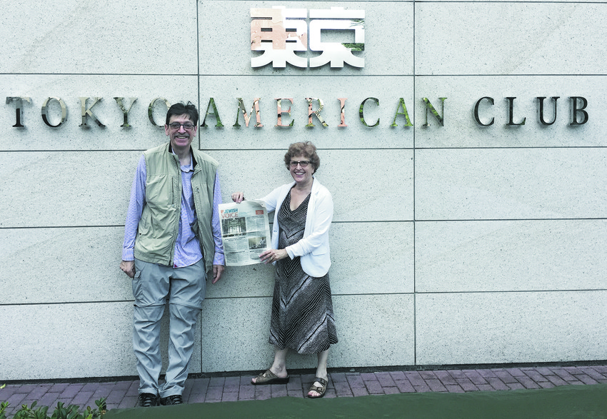 Mark Kanter and Lynne  Glickman with The Voice in Tokyo.