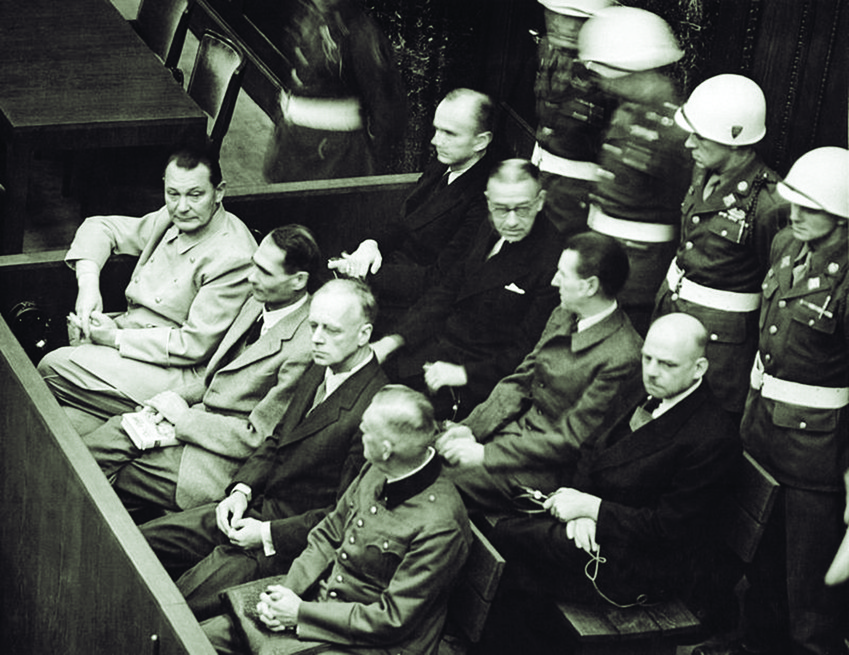 Defendants at the Nuremberg trial.