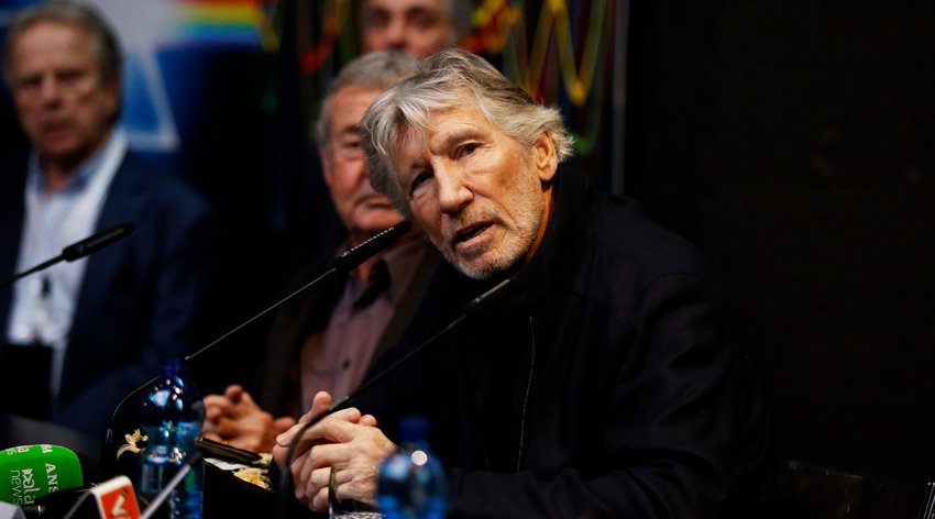 "Roger Waters at a press conference for ""The Pink Floyd Exhibition: Their Mortal Remains"" in Rome, Italy, Jan. 16, 2018. He is a leading celebrity in the Boycott, Divestment and Sanctions movement against Israel. (Ernesto S. Ruscio/Getty Images)"