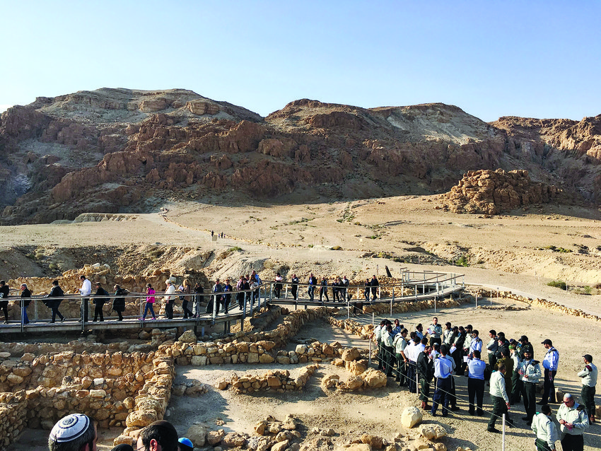 Daniel Stieglitz, along with members of the Israeli army's Rabbanaut, visited Qumran on Jan. 1. This is the area where the Dead Sea Scrolls were found.