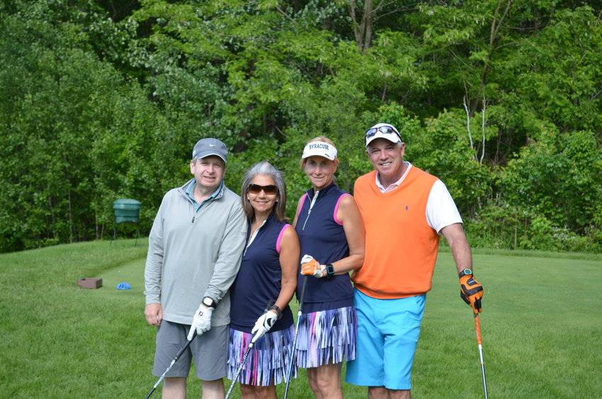 Mark & Cindy Feinstein, left,  Cathy & Bobby Oresman.