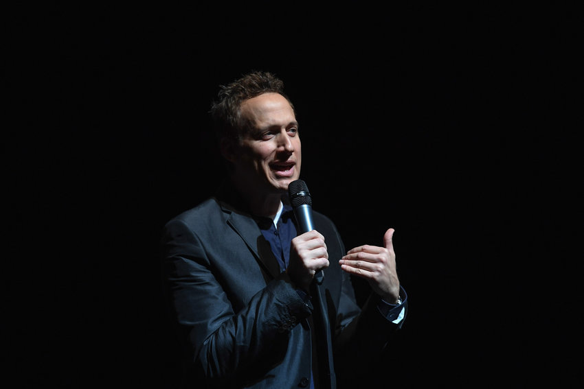 Comedian Elon Gold attends 9th Annual NBN Israel Mega Event at John Jay College on February 26, 2017 in New York City.