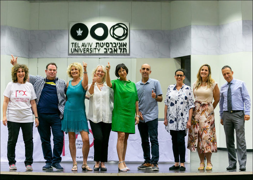 Members of AMEN, the Israeli Association of Myeloma Patients, attend a patient conference at Tel Aviv University, May 2019.