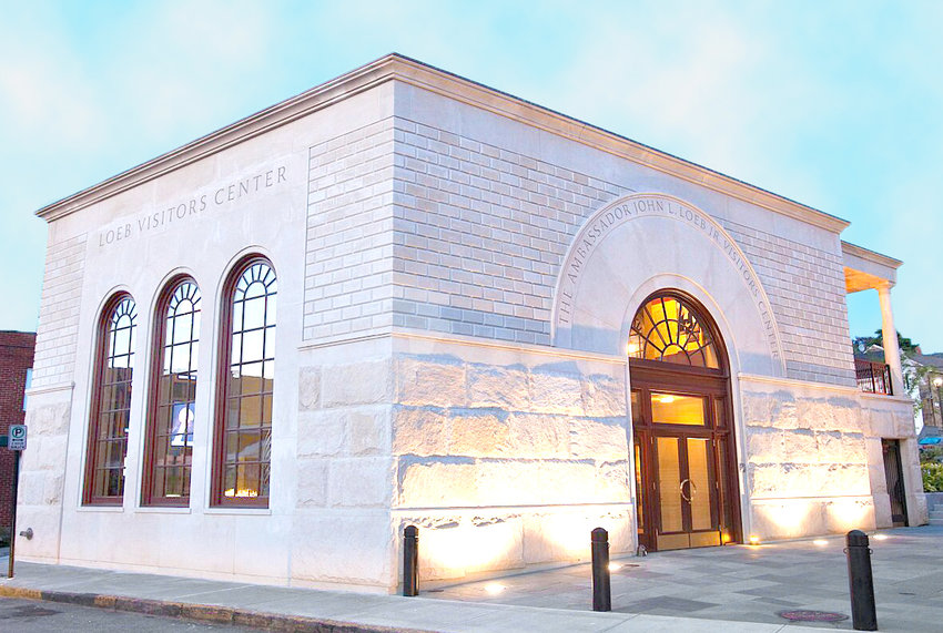 The exterior of the Loeb Visitors Center in Newport.