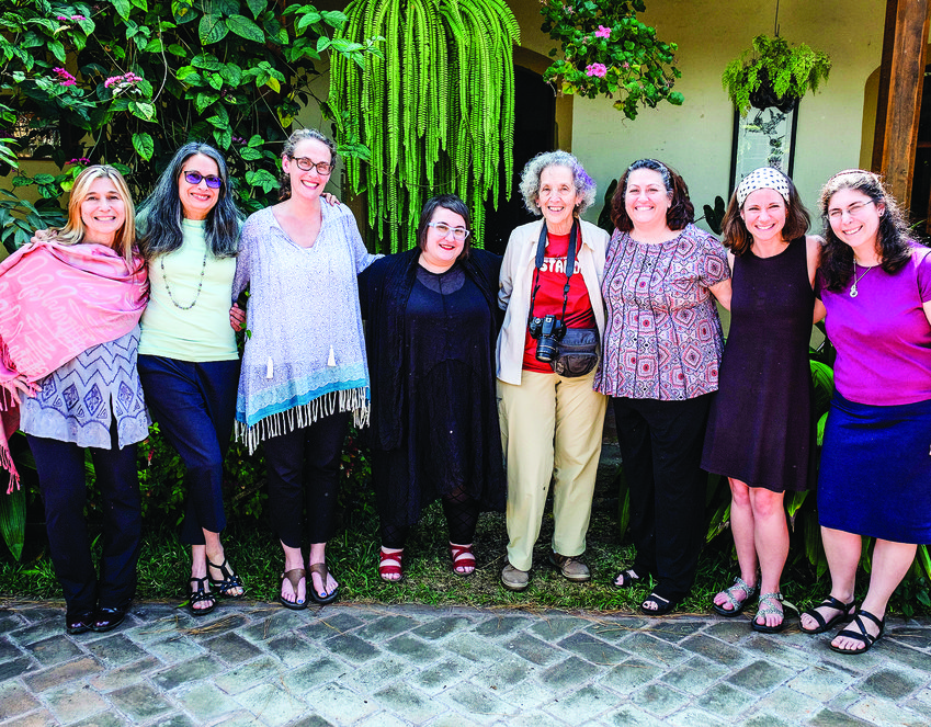 Rabbi Sarah Mack (third from left) in Antigua, Guatemala with Global Justice Fellows and AJWS Global Ambassador, Ruth Messinger (center, red top).