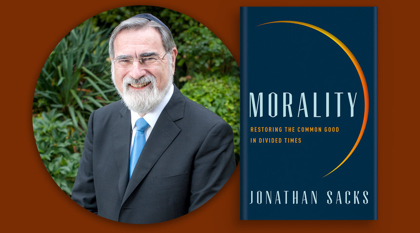 """Sir Chief Lord Rabbi Jonathan Sacks and his book """"Morality"""", available September 1 in the United States"""