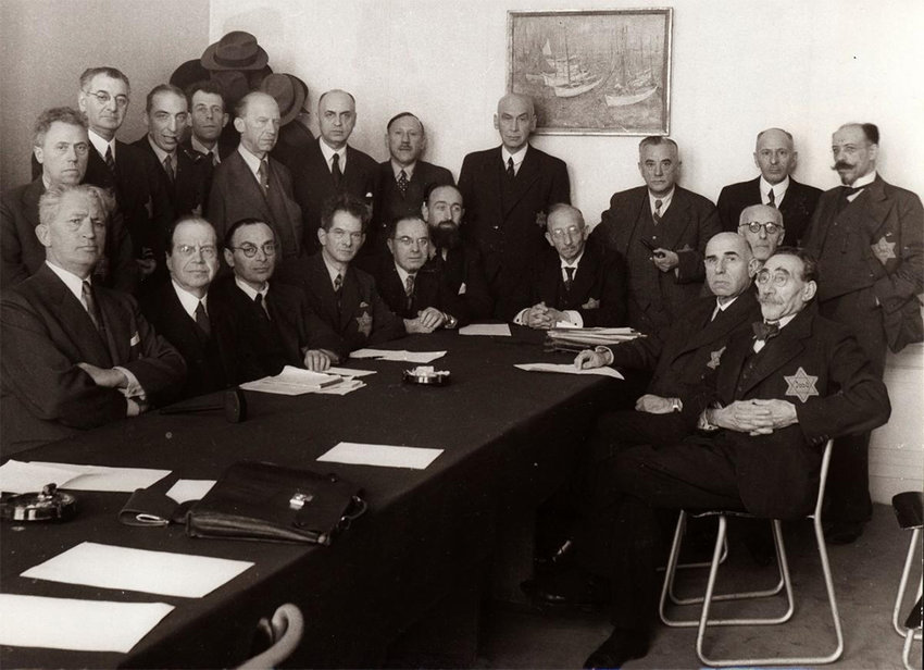 The Jewish Council of Amsterdam, a body set up by the Nazis to have Jews oversee preparations for the extermination of their own minority throughout the Netherlands during World War II.