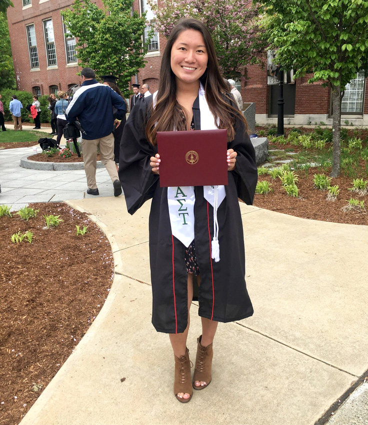 Arianna in 2018 on the day she graduated from Bridgewater State University.