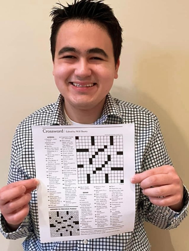 Nathan Hasegawa with his winning puzzle.