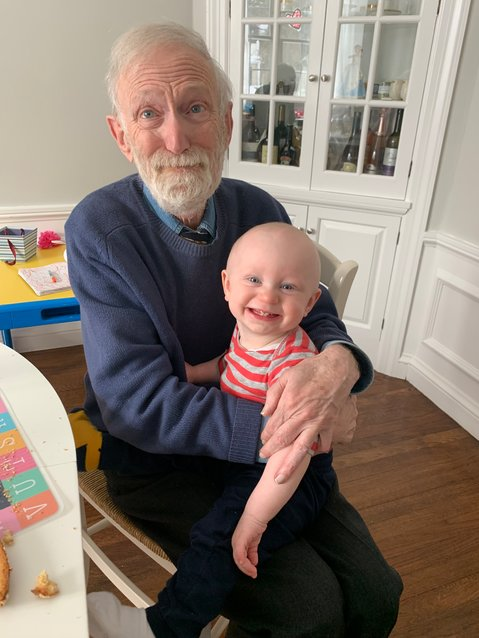 Mike and grandson Noah look forward to happy times.