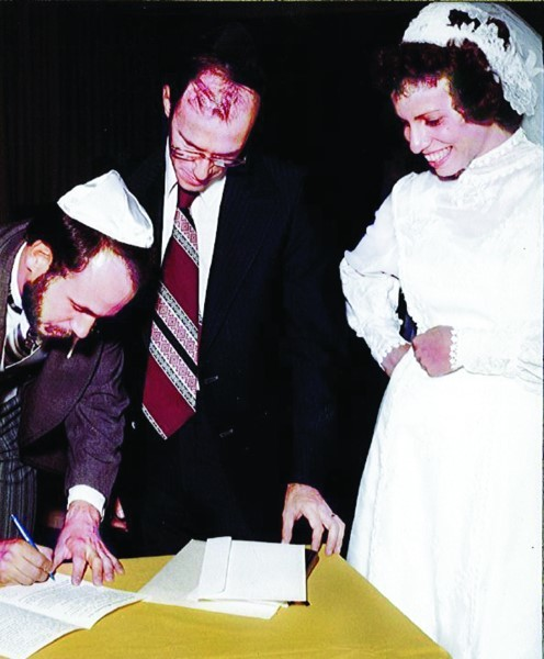 In 1979 (left to right), David LaMarche, Rabbi Kaunfer, 