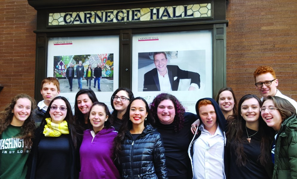 HaZamir Providence poses outside of Carnegie Hall at a past competition.