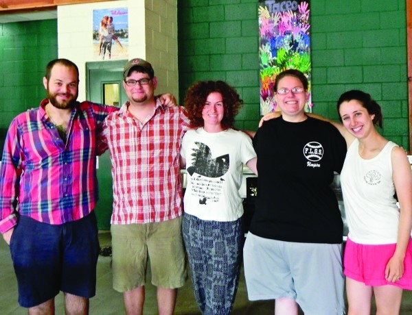 On Sunday morning (left to right): Adam Cable, Aaron Guttin, Liz Maynard, Deanna Raphael and Elisheva Stark.