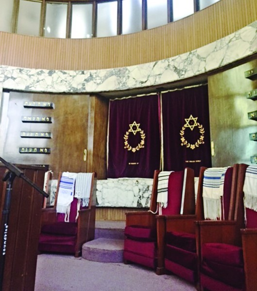 The main sanctuary of the synagogue.