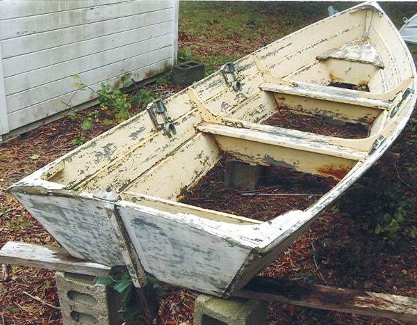 The abandoned skiff.