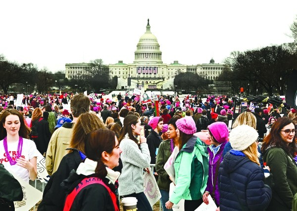 With the Capitol in the background, crowds from across the U.S. came together at the Women's March on Washington, D.C., Jan. 21. Chapters from every state, including Rhode Island attended.