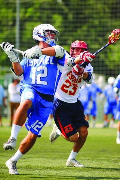 The men of Israeli Lacrosse play Spain.