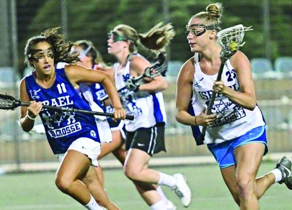 Girls league play in Israel Lacrosse.