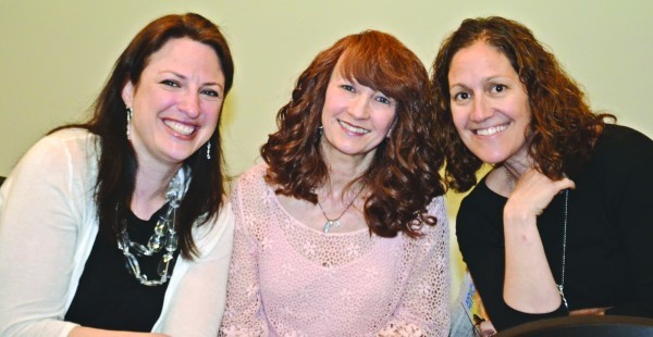 Rachel Mersky Woda, Marisa Garber and Mindy Stone at the meeting.
