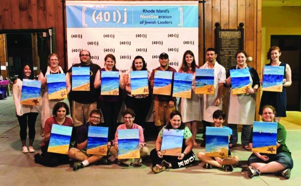At the 2016 Shabbaton, participants enjoyed a paint night.