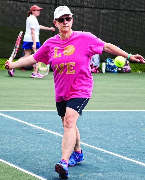 Lisa Brosofsky,  tennis chair, on the courts.