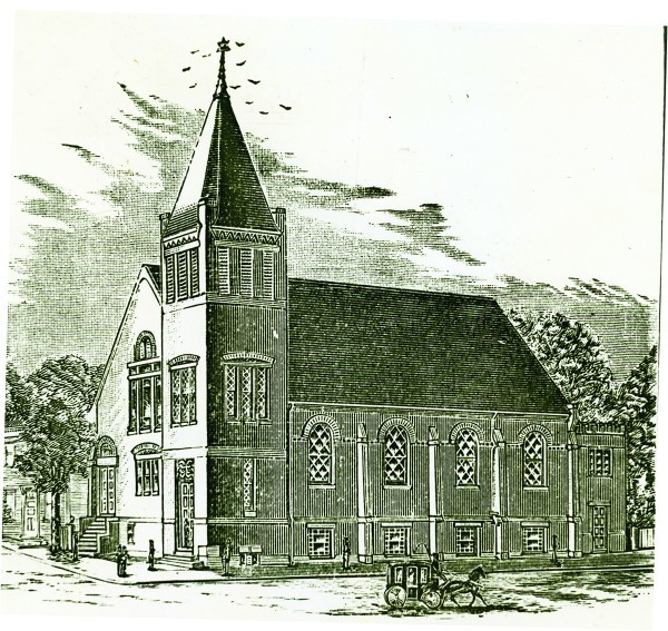 Sketch of the Friendship Street Synagogue.