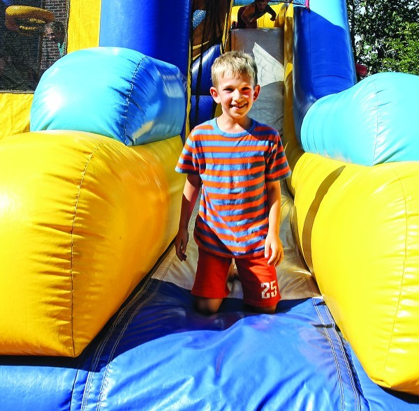 Students at Jewish Community Day School of Rhode Island enjoy fun activities at the opening day party.