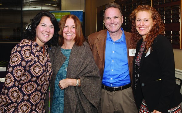 (Left to right) Bethany Sutton, Lisa Shea, David Shea and Michelle Cicchitelli at the Double Chai reception.