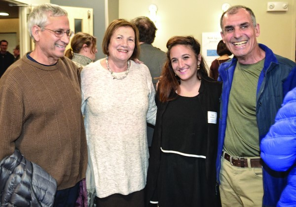 (Left to right) Barbara and Benjamin Mer, Tslil Reichman and Aharon Afsai at the dessert reception.
