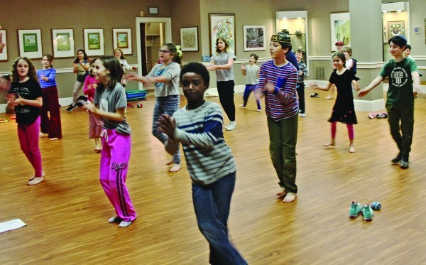Students at the Jewish Community Day School of Rhode Island enjoy yoga and Amidah Aerobics.