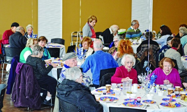 About 75 seniors enjoyed latkes Dec. 15 at the annual Kosher Senior Café Hanukkah Party.