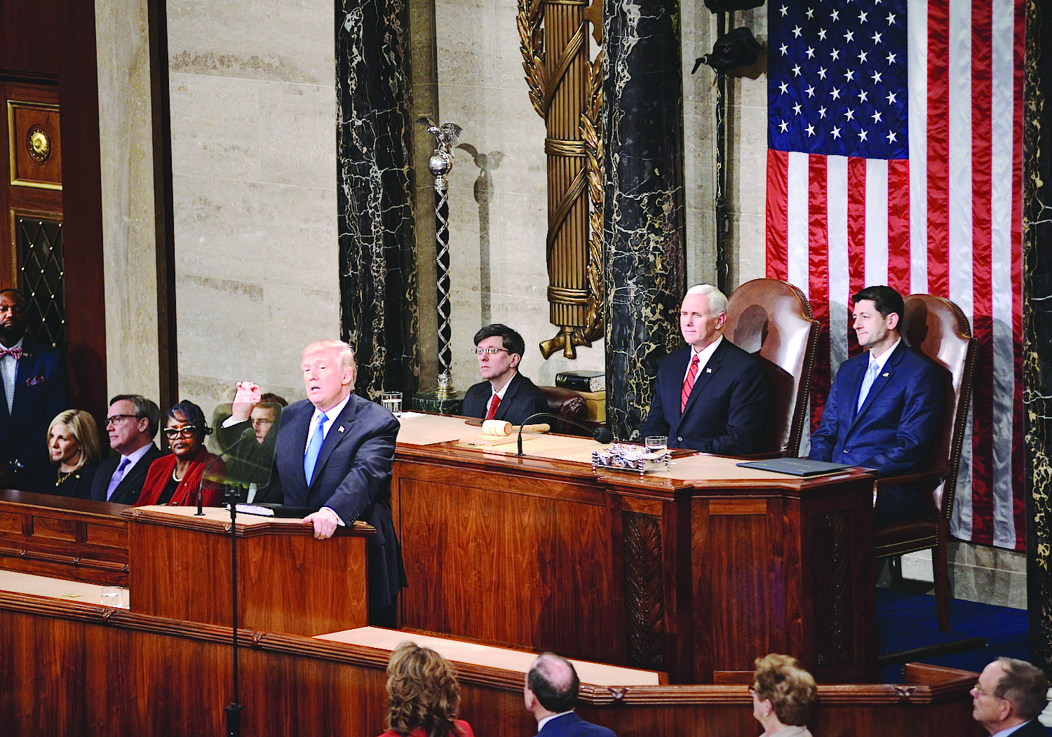 State of the Union: President Donald Trump, Vice President Mike Pence and Speaker of the House Paul Ryan.