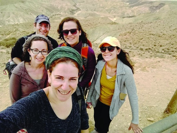The writer with others from the workshop