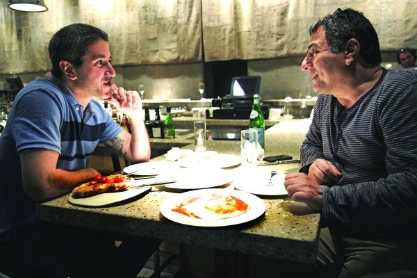 Michael Solomonov, left, stars in a documentary about Israeli cuisine.