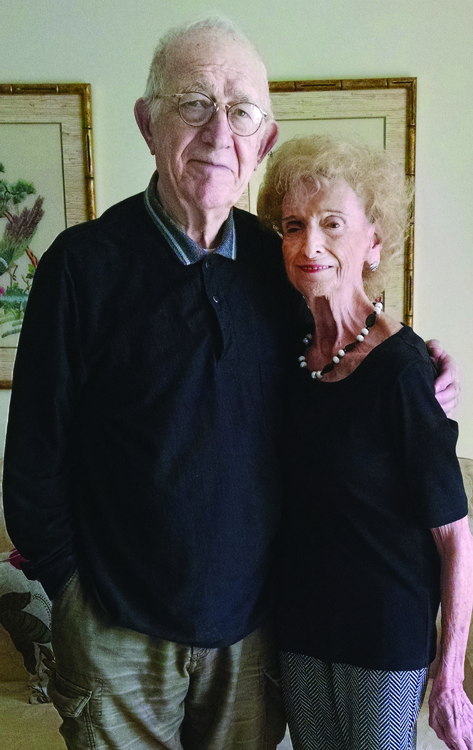 Edmond Goldberg with his partner Judy Chorney.
