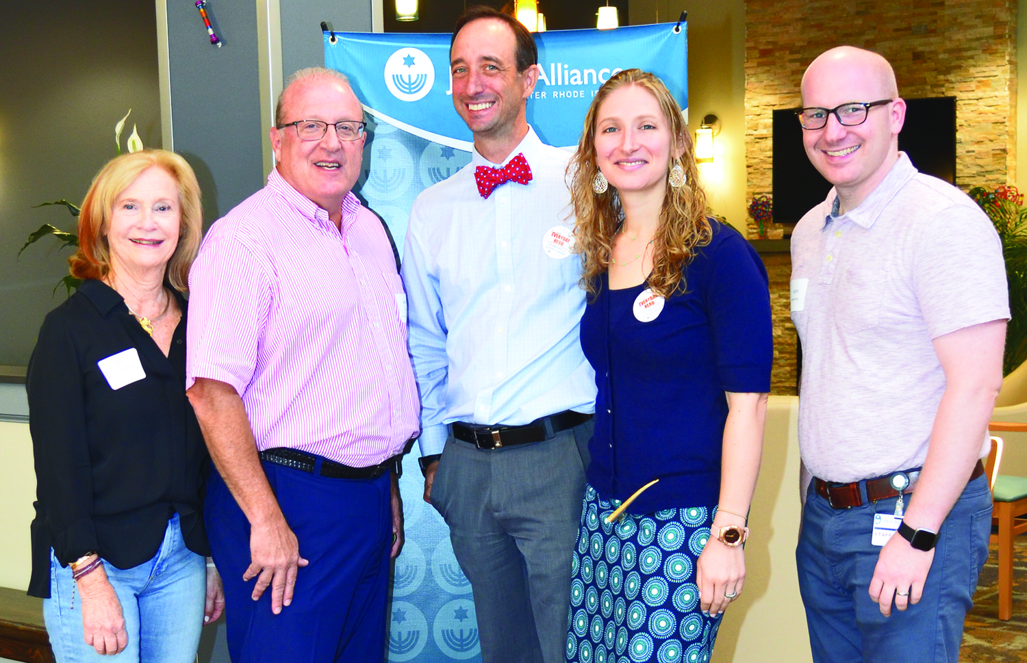 Grateful for a successful event are (left to right) Mitzi Berkelhammer, chair of the Alliance board; Jamie Pious, campaign chair; Will and Aliza Krieger, Super Sunday chairs, 