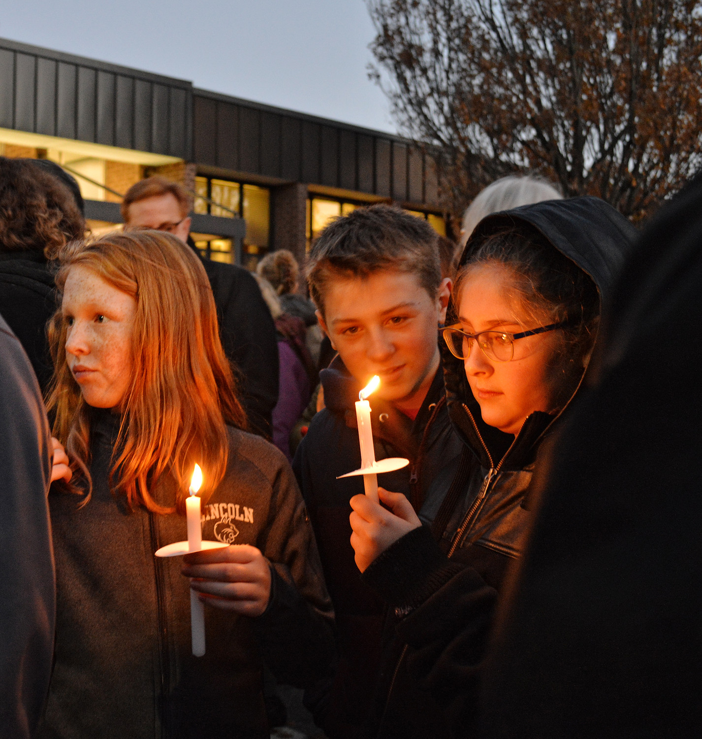 All ages participated in the candlelight vigil